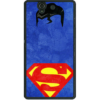 1 Crazy Designer Superheroes Superman Back Cover Case For Sony Xperia Z C460046