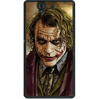 1 Crazy Designer Villain Joker Back Cover Case For Sony Xperia Z C460050