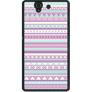 1 Crazy Designer Aztec Girly Tribal Back Cover Case For Sony Xperia Z C460054
