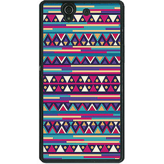 1 Crazy Designer Aztec Girly Tribal Back Cover Case For Sony Xperia Z C460063