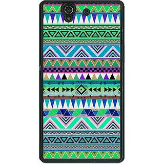 1 Crazy Designer Aztec Girly Tribal Back Cover Case For Sony Xperia Z C460064