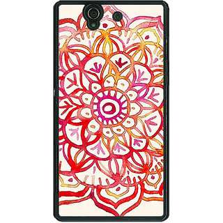 1 Crazy Designer Flower Floral Pattern Back Cover Case For Sony Xperia Z C460204