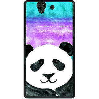 1 Crazy Designer Panda Pattern Back Cover Case For Sony Xperia Z C460206