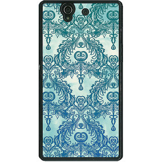1 Crazy Designer Vintage Pattern Back Cover Case For Sony Xperia Z C460223