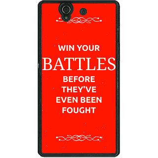 1 Crazy Designer SUITS Quotes Back Cover Case For Sony Xperia Z C460477