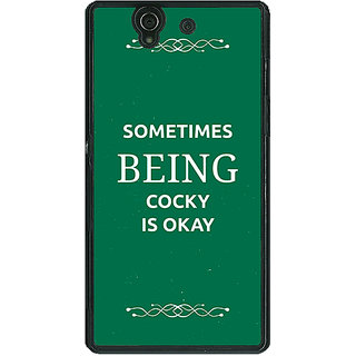 1 Crazy Designer SUITS Quotes Back Cover Case For Sony Xperia Z C460479
