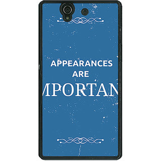 1 Crazy Designer SUITS Quotes Back Cover Case For Sony Xperia Z C460480