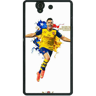 1 Crazy Designer Arsenal Back Cover Case For Sony Xperia Z C460511