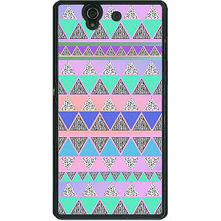 1 Crazy Designer Aztec Girly Tribal Back Cover Case For Sony Xperia Z C460068