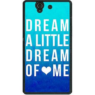 1 Crazy Designer Dream Love Back Cover Case For Sony Xperia Z C460089