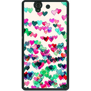 1 Crazy Designer Hearts in the Air Pattern Back Cover Case For Sony Xperia Z C460233