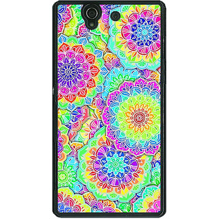 1 Crazy Designer Psychdelic Floral  Pattern Back Cover Case For Sony Xperia Z C460235