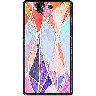 1 Crazy Designer Designer Geometry Pattern Back Cover Case For Sony Xperia Z C460237