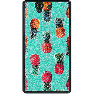 1 Crazy Designer Pineapple Pattern Back Cover Case For Sony Xperia Z C460246