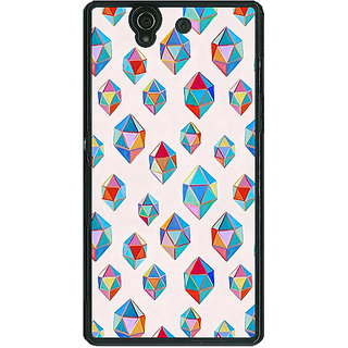 1 Crazy Designer Diamonds of Dreams Pattern Back Cover Case For Sony Xperia Z C460251