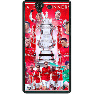 1 Crazy Designer Arsenal Back Cover Case For Sony Xperia Z C460516