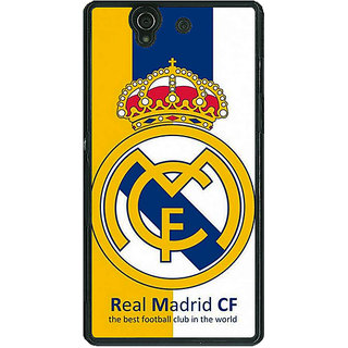 1 Crazy Designer Real Madrid Back Cover Case For Sony Xperia Z C460591