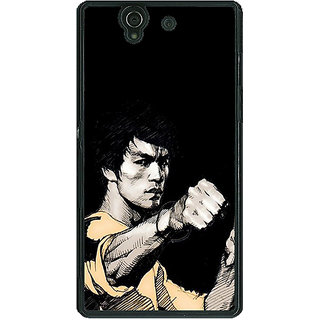 1 Crazy Designer Bruce Lee Back Cover Case For Sony Xperia Z C460825