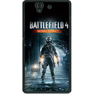 1 Crazy Designer Battlefield 4 Back Cover Case For Sony Xperia Z C460849