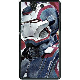 1 Crazy Designer Superheroes Ironman Back Cover Case For Sony Xperia Z C460866