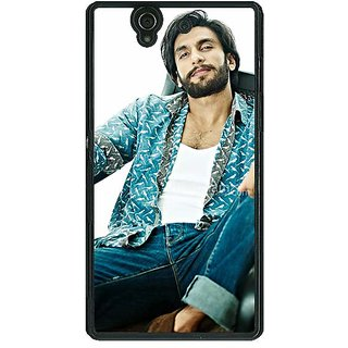 1 Crazy Designer Bollywood Superstar Ranveer Singh Back Cover Case For Sony Xperia Z C460955