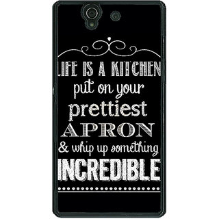 1 Crazy Designer Chef Quote Back Cover Case For Sony Xperia Z C461203
