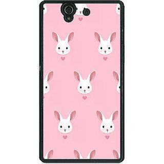 1 Crazy Designer Rabbit Back Cover Case For Sony Xperia Z C460098