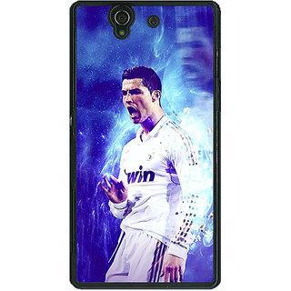 1 Crazy Designer Cristiano Ronaldo Real Madrid Back Cover Case For Sony Xperia Z C460308