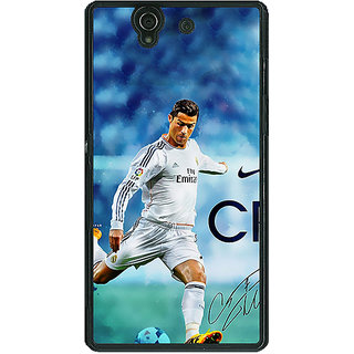 1 Crazy Designer Cristiano Ronaldo Real Madrid Back Cover Case For Sony Xperia Z C460313