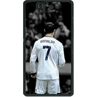1 Crazy Designer Cristiano Ronaldo Real Madrid Back Cover Case For Sony Xperia Z C460315