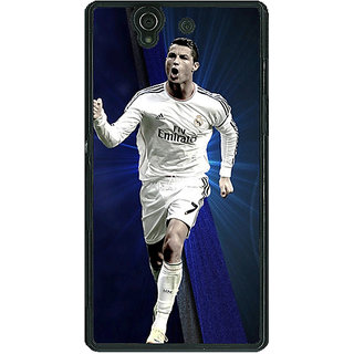 1 Crazy Designer Cristiano Ronaldo Real Madrid Back Cover Case For Sony Xperia Z C460316