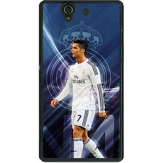 1 Crazy Designer Cristiano Ronaldo Real Madrid Back Cover Case For Sony Xperia Z C460317