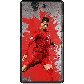 1 Crazy Designer Cristiano Ronaldo Portugal Back Cover Case For Sony Xperia Z C460318