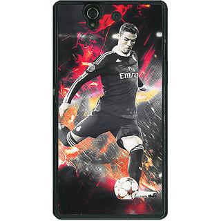 1 Crazy Designer Cristiano Ronaldo Portugal Back Cover Case For Sony Xperia Z C460320