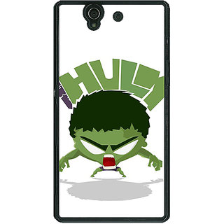 1 Crazy Designer Superheroes Hulk Back Cover Case For Sony Xperia Z C460323