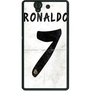 1 Crazy Designer Real Madrid Ronaldo Back Cover Case For Sony Xperia Z C460598