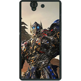 1 Crazy Designer Transformers Optimus Prime Back Cover Case For Sony Xperia Z C460871