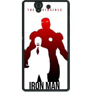 1 Crazy Designer Superheroes Ironman Back Cover Case For Sony Xperia Z C460883