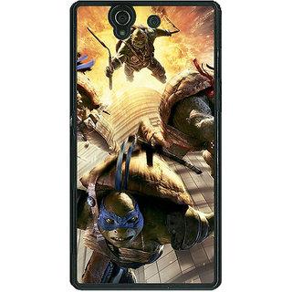 1 Crazy Designer Ninja Turtles Back Cover Case For Sony Xperia Z C460889