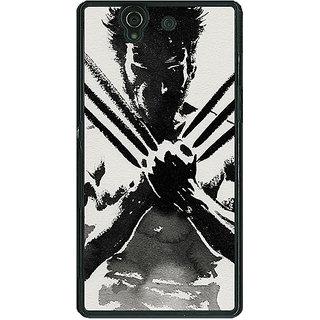 1 Crazy Designer Wolverine Hugh Jackman Back Cover Case For Sony Xperia Z C460892