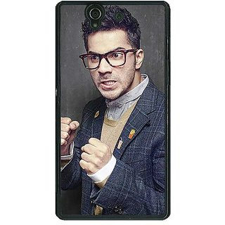 1 Crazy Designer Bollywood Superstar Varun Dhawan Back Cover Case For Sony Xperia Z C460906