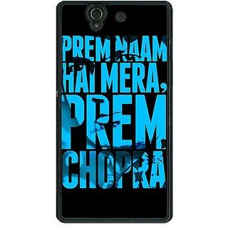 1 Crazy Designer Bollywood Superstar Mera Naam Prem Chopra Back Cover Case For Sony Xperia Z C461081