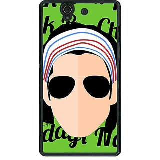 1 Crazy Designer Bollywood Superstar Rock On Back Cover Case For Sony Xperia Z C461100