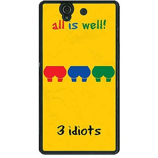 1 Crazy Designer Bollywood Superstar Three Idiots Back Cover Case For Sony Xperia Z C461104