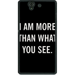 1 Crazy Designer Quote Back Cover Case For Sony Xperia Z C461230