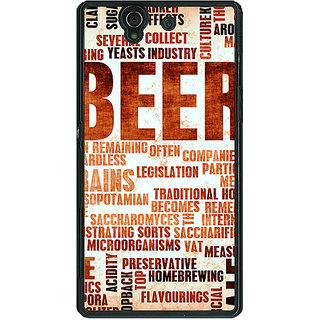 1 Crazy Designer Beer Quote Back Cover Case For Sony Xperia Z C461242