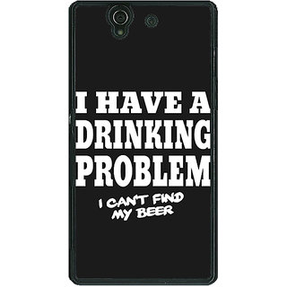 1 Crazy Designer Beer Quote Back Cover Case For Sony Xperia Z C461255