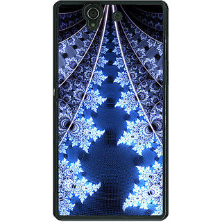 1 Crazy Designer Abstract Snow Flake Pattern Back Cover Case For Sony Xperia Z C461503