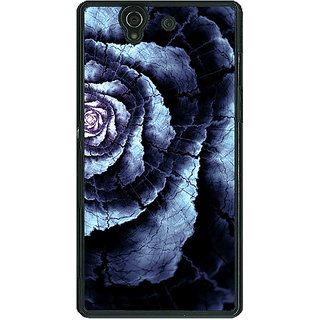 1 Crazy Designer Abstract Flower Pattern Back Cover Case For Sony Xperia Z C461506