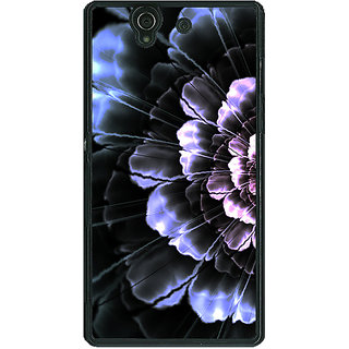 1 Crazy Designer Abstract Flower Pattern Back Cover Case For Sony Xperia Z C461512